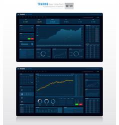 Trading user interface 001 vector