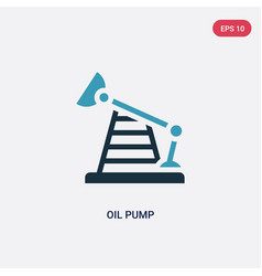 two color oil pump icon from industry concept vector image