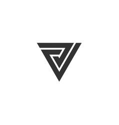 V letter alphabet business sport vector