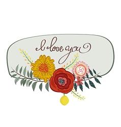 Vintage gentle spring watercolor greeting card vector