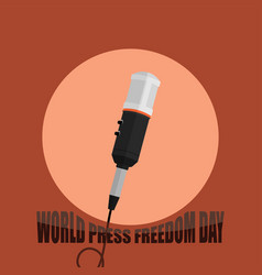 world press freedom day with microphone and vector image