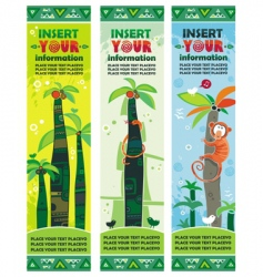 African jungle banners set vector image vector image