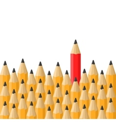 Background with Classic Orange and Red Pencils vector image vector image