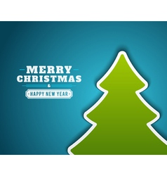 Christmas green tree applique background vector image vector image