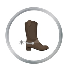 Cowboy s boots icon in cartoon style isolated on vector image