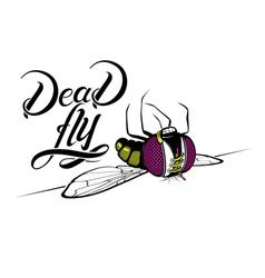 Funny cartoon dead fly vector