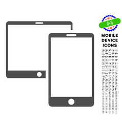 mobile devices icon with set vector image