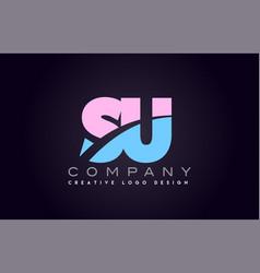 su alphabet letter join joined letter logo design vector image vector image