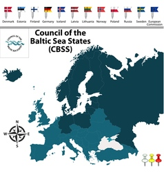 Council of the Baltic Sea States vector image