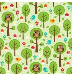Forest seamless vector image