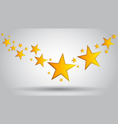 Gold stars wrapping background vector