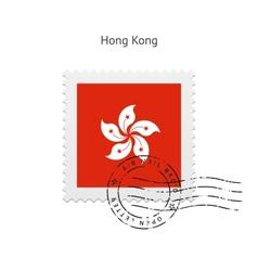 Hong Kong Flag Postage Stamp vector image vector image