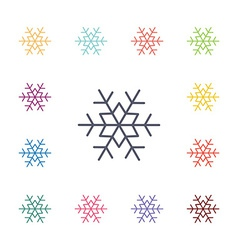 snowflake flat icons set vector image vector image