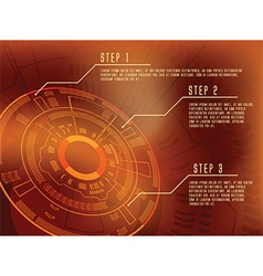 technical template infographics vector image