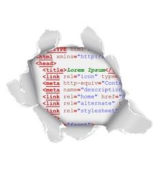 Webpage hole vector