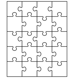 white puzzle vector image vector image