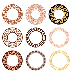 Ancient Greek round pattern - set vector image vector image
