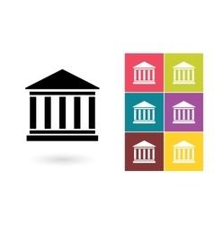 Bank icon or bank symbol vector image vector image