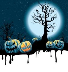 Halloween moonlight vector image