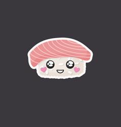 kawaii sushi icon vector image
