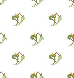 seamless kuxnya zelen vector image vector image