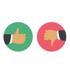 thumbs up thumbs down vector image