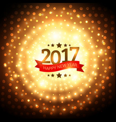 2017 golden party background with glowing effect vector