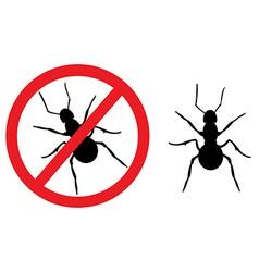 Ant sign symbol vector
