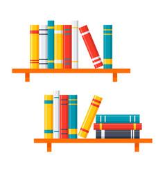 bookshelves icon vector image