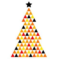 Colorful Xmas Mosaic Tree isolated on white vector image
