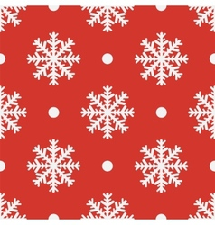 Red seamless snowflake pattern EPS10 vector image