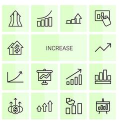 14 increase icons vector