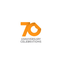 70 years anniversary celebration logo icon vector