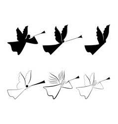 angels abstract silhouette biblical personage vector image
