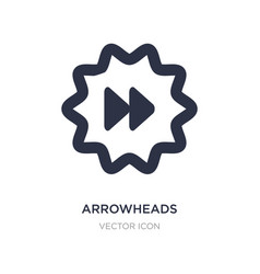 Arrowheads icon on white background simple vector