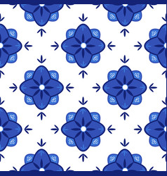 azulejos portuguese traditional ornamental tile vector image