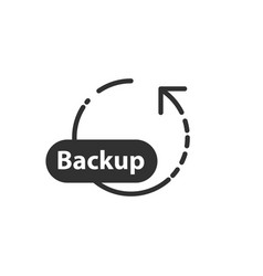 Backup circle arrow icon database restore back in vector