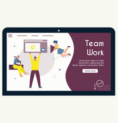 banner team work concept office vector image
