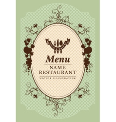 Baroque menu vector