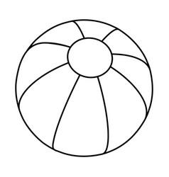 beach ball silhouette symbol icon design vector image