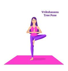beautiful girl is doing yoga vector image