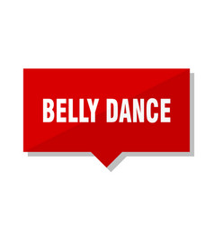 Belly dance red tag vector
