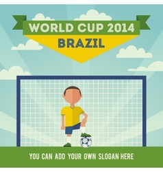 Brazil soccer world cup 2014 vector image