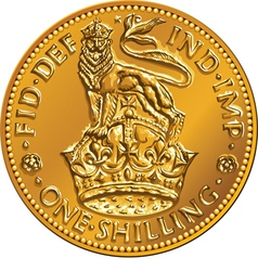 British money gold coin one shilling vector image vector image