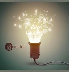 bursting glow lamp background vector image