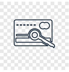 card key concept linear icon isolated on vector image