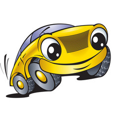 Cartoon car with smile vector