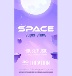 club party flyer to space music show vector image