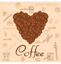 Coffee beans art vector