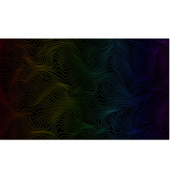 color abstract pattern with waves vector image